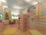 Детская комната прямоугольного типа