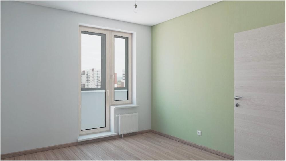 Выход на балкон в стиле минимализм