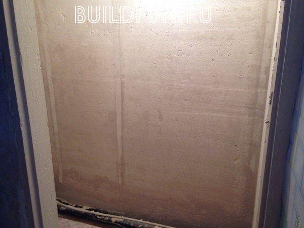 Стена после первоначальной работы
