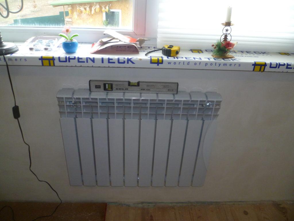 Установленный радиатор
