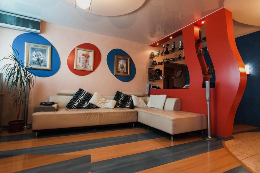 Пример гостиной в эклектическом стиле