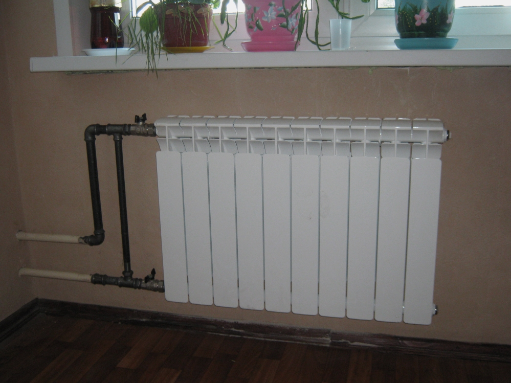 Радиатор идеально вписался в интерьер