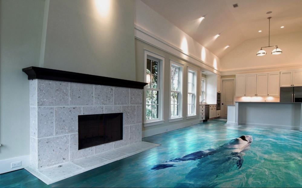 Интерьер этого дома поход на настоящий бассейн