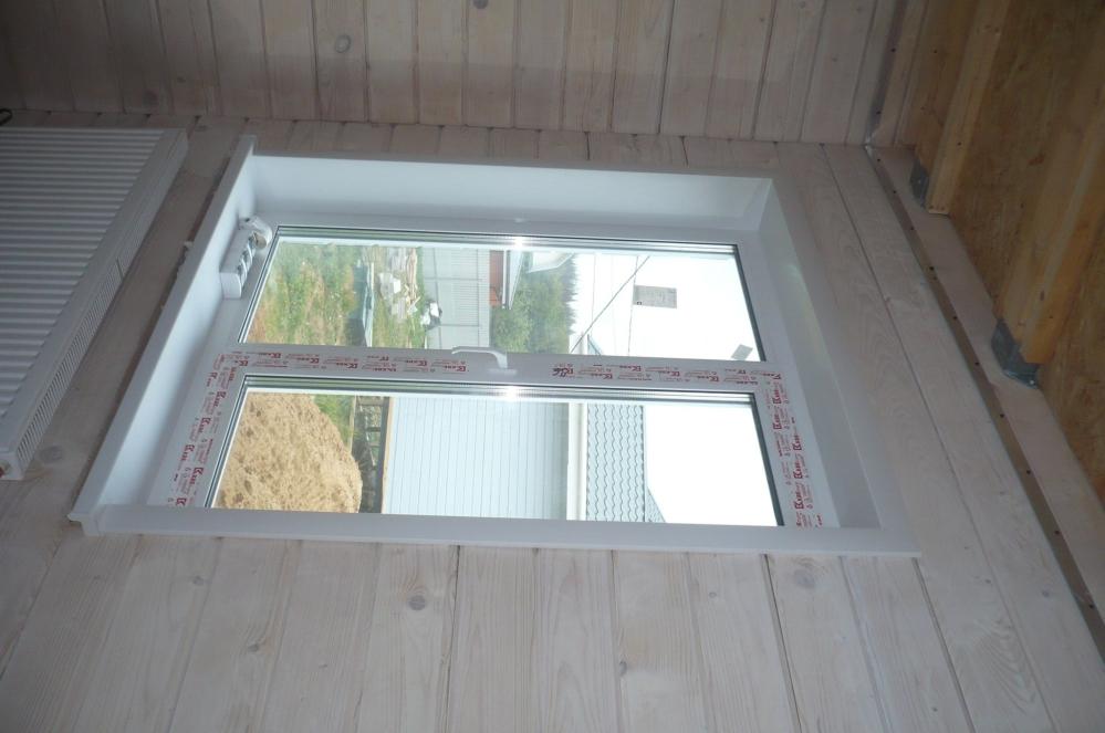 Часто откосы устанавливаются сразу после монтажа окна