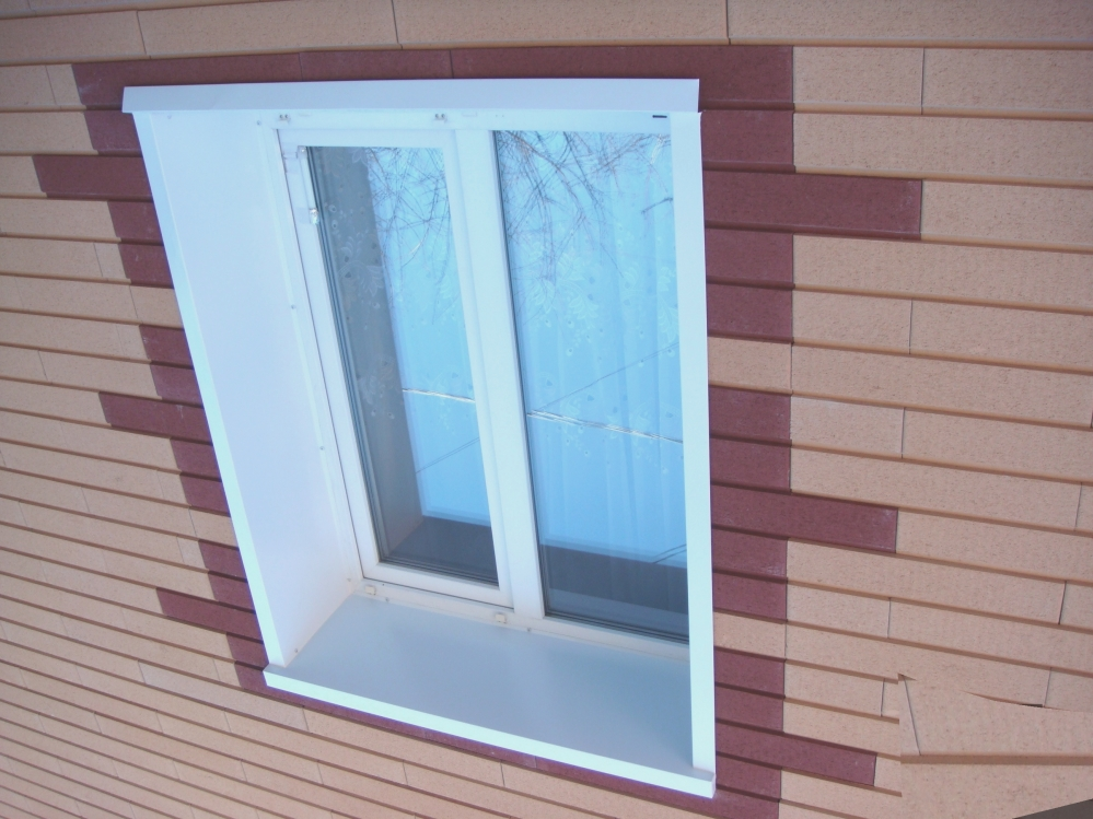 Внешние откосы улучшают общий облик здания