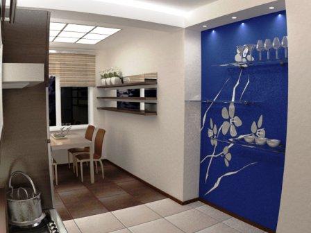 оформление арки в кухонной стене