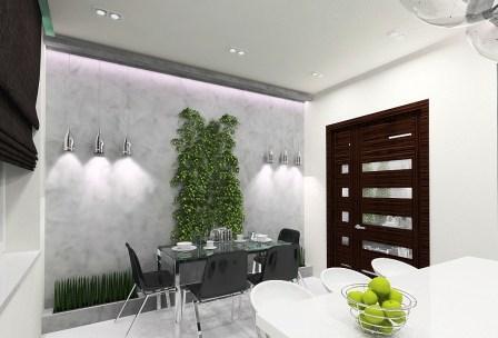 растения на стене декорация