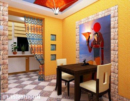 зонирование и оформление кухни в нубийском стиле