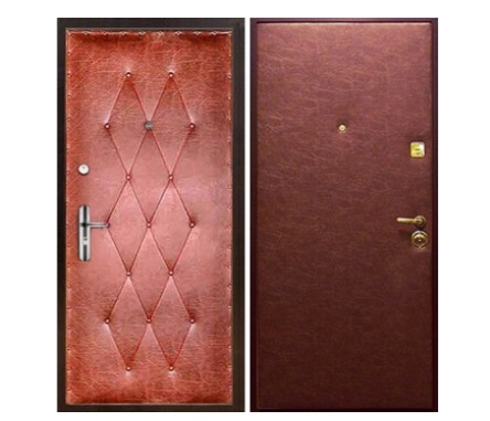 винилискожа на входных дверях